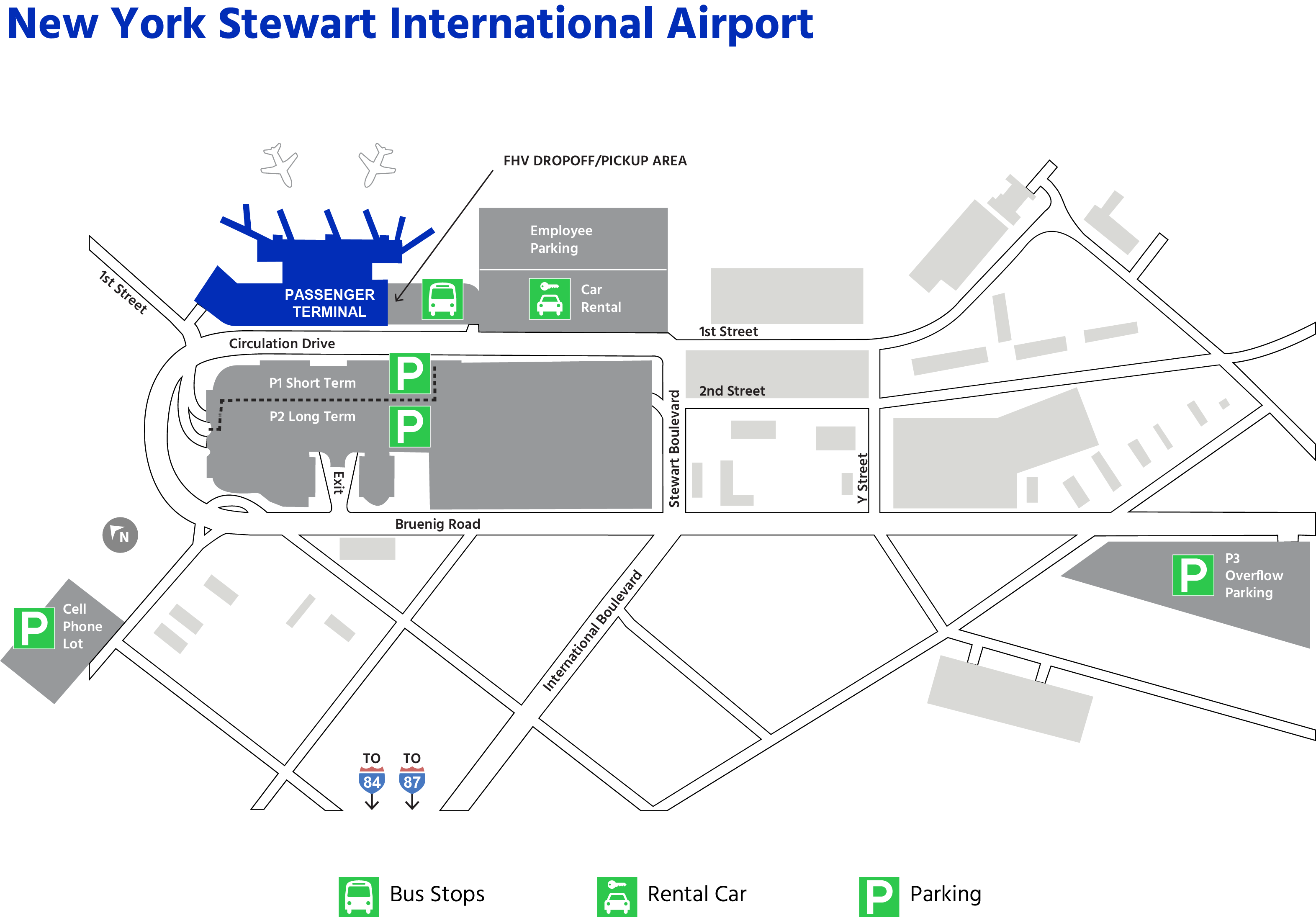 Newburgh New York Map.Airport Maps Swf New York Stewart International Airport